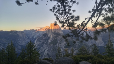 Half dome near sunset. My favorite view.