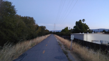 Stevens Creek trail, road to home
